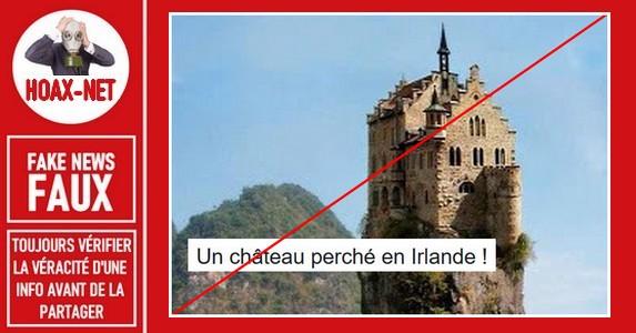 Non, ce château sur ce rocher ne se trouve pas en Irlande ni ailleurs.