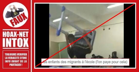 Non, ce ne sont pas des enfants de migrants en France sur cette vidéo.