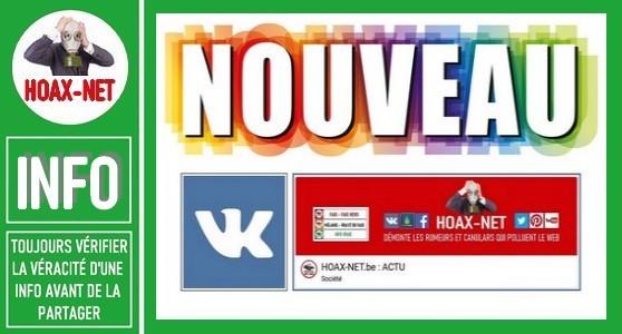 POUR INFO – Les nouveautés HOAX-NET.Be