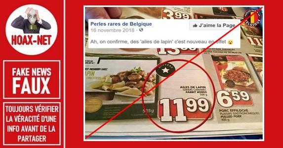 Non, il ne s'agit pas d'une «perle belge» sur cette publication