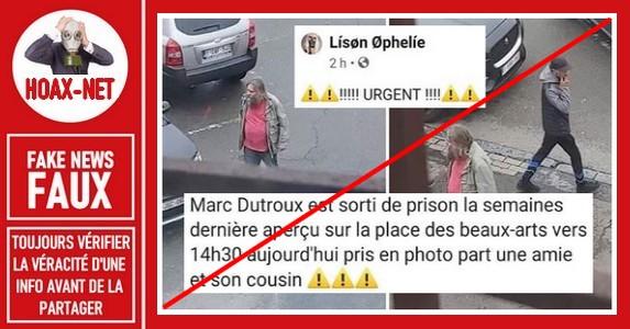 Non, Marc Dutroux n'a pas été vu dans une rue de Charleroi (Belgique)