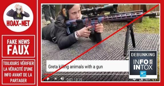 Non, ce n'est pas Greta Thunberg dans cette vidéo.