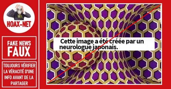 FAUX – Non, il ne s'agit pas d'une image créée par un neurologue japonais.