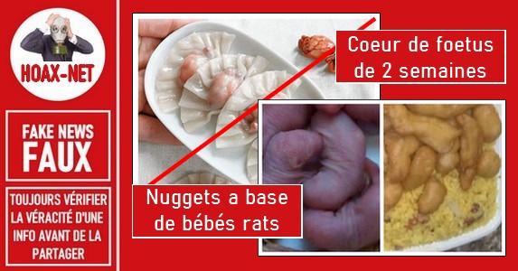 FAUX-Des bébés rats frit et des fœtus de 2 semaines dans des restaurants en Grèce et en Italie.