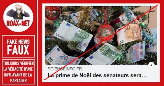 Non, les sénateurs n'ont pas eu une prime de Noël de 17.580 euros.