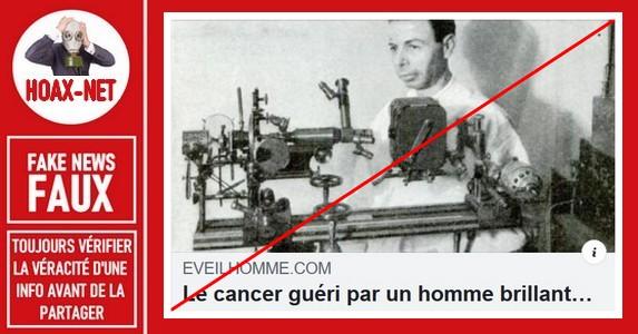 Non,  Raymond Rife n'a pas inventé une machine guérissant le cancer en 1934.