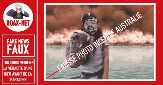 AUSTRALIE – FAUSSE IMAGE QUI CIRCULE SUR LE WEB
