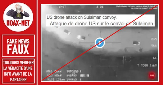 Non, cette vidéo ne montre pas le drone qui a tué Soleimani à Bagdad le 3 janvier 2020.