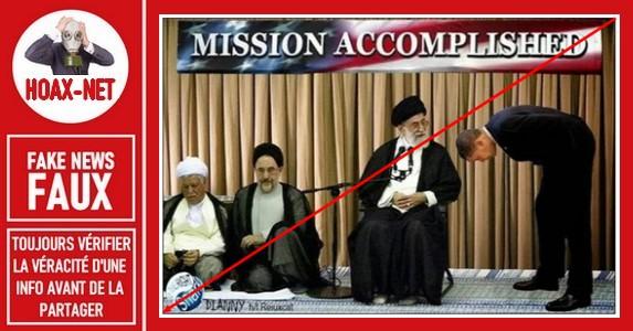 FAUX – Non, le Président Obama ne s'est pas incliné devant le Guide Suprême Iranien.