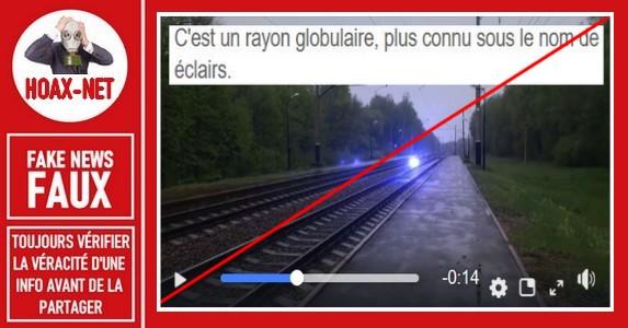 Non, il ne s'agit pas d'un «éclair globulaire» sur cette vidéo.