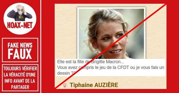 Non, la belle-fille du Président Macron n'est pas l'avocate de la CFDT.