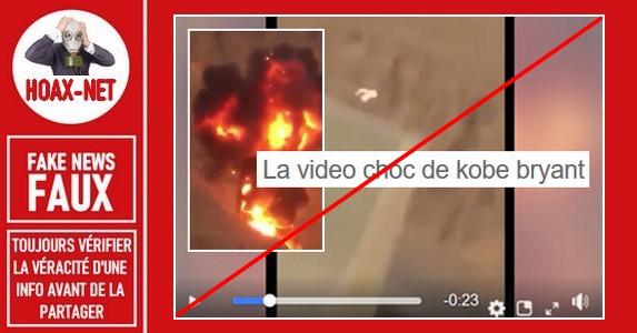 Non, il ne s'agit pas de la vidéo sur l'accident d'hélicoptère mortel de Kobe Bryant.