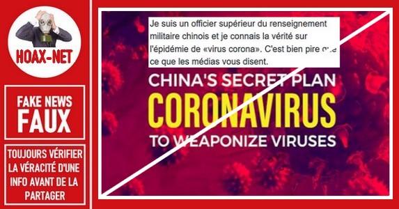 Non, le coronavirus n'a pas été développé comme une arme biologique