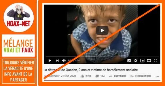 Mise au point concernant la vidéo de «Quaden Bayles»