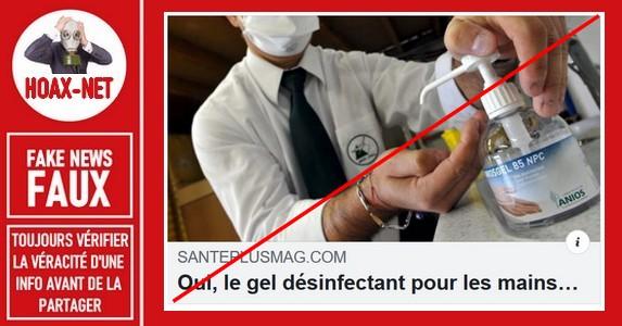 Non, le désinfectant pour les mains n'est pas cancérigène.