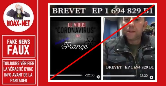 Non, le coronavirus (COVID-19) n'a pas été inventé par les français.