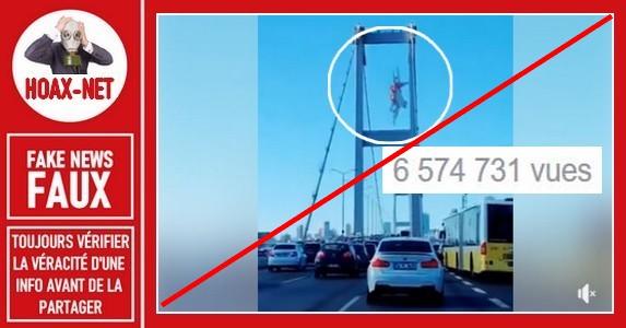 Non, cet avion n'est pas passé entre les colonnes de ce pont.