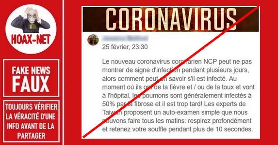 Les fausses recommandations médicales concernant le Coronavirus