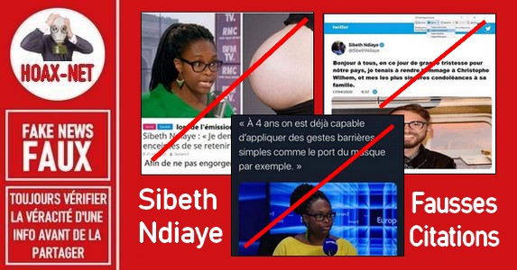 Festival des fausses citations attribuées à Sibeth Ndiaye.