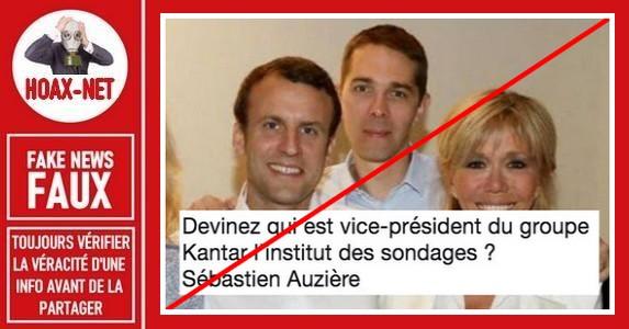Non, Sebastien Auziere n'a rien à voir avec l'institut de sondage IFOP.