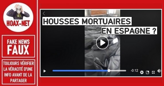 Non, cette vidéo ne montre pas des housses mortuaires en Espagne.