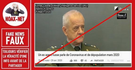Non, l'état-major russe ne considère PAS le Covid-19 comme un mensonge