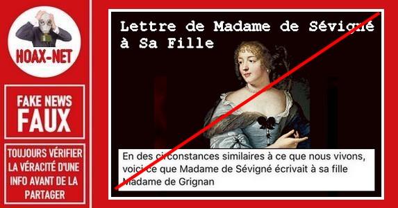 La fausse lettre de Madame de Sévigné à sa fille.