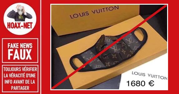 Non, Vuitton ne vends pas des masques à 1600€