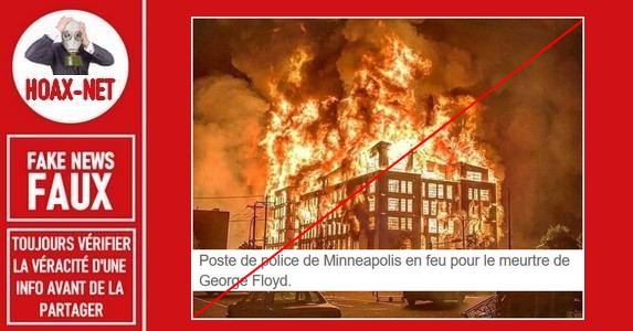 Non, cette photo ne montre pas l'incendie du poste de police de Minneapolis.