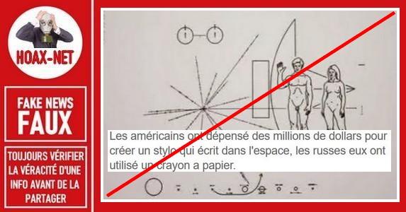 Non, la NASA n'a pas dépensé des millions pour développer un stylo capable d'écrire dans l'espace