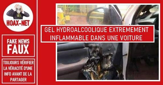 Non, laisser un gel hydroalcoolique dans votre voiture par temps chaud ne le fera pas prendre feu.