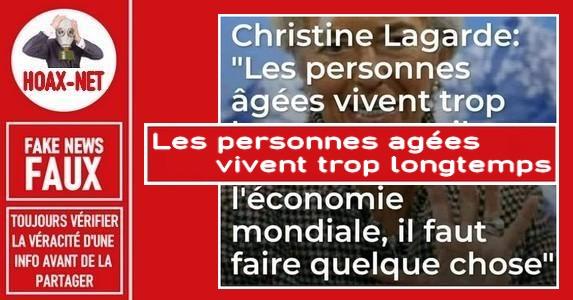 FAUX-Aucune preuve n'existe que cette citation est de Christine Lagarde.