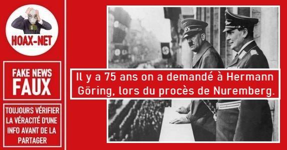Non, cette citation n'est pas d'Hermann Göring.
