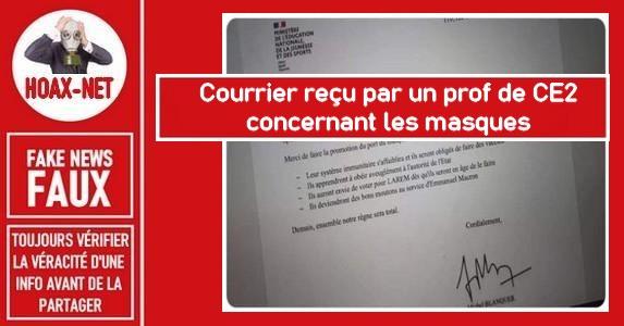 Non, cette circulaire signée Jean-Michel Blanquer n'est pas VRAIE.