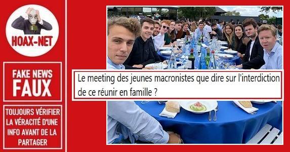 Non, ce n'est pas un meeting des «jeunes macronistes».