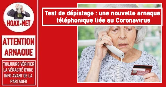 Une nouvelle arnaque téléphonique liée au Coronavirus