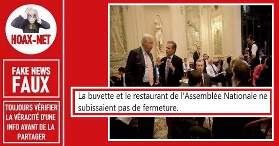 Non, cette photo du restaurant de l'Assemblée Nationale française n'est pas actuelle.