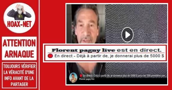 Non, Florent Pagny ne vous fera pas gagner 5.000 $