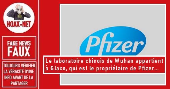 Non, le laboratoire de Wuhan n'appartient pas à Glaxo, Pfizer, Soros et encore moins à BlackRock.