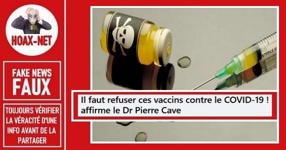 Non, l'épidémie de la Covid-19 n'est pas finie comme le prétend le Dr Pierre Cave.