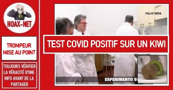 Non, un test rapide effectué sur un kiwi, sur du cola ou une compote n'est pas fiable.