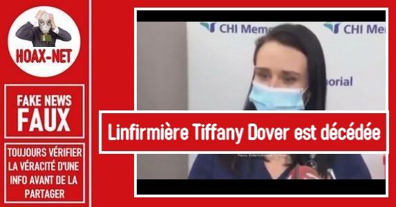 Non, Tiffany Dover, qui s'est évanouie après avoir reçu le vaccin, n'est pas décédée.