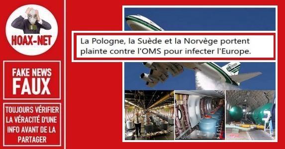 Non des pilotes n'ont pas admis avoir pulvérisé des produits chimiques sur l'Europe.