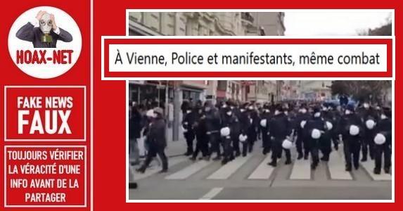 Non, les policiers autrichiens et manifestants n'avaient pas le même combat à Vienne.