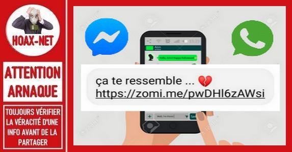 Ne jamais cliquer sur ce message transmis sur Messenger et Whats'App.