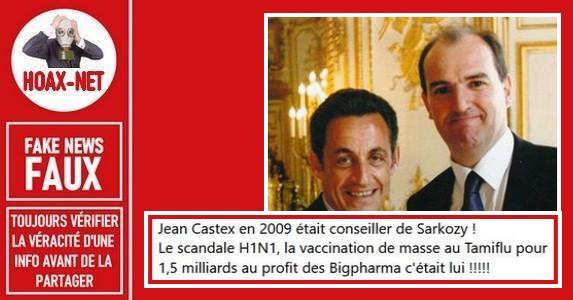 Non, Jean Castex n'a pas été responsable de la vaccination contre la grippe H1N1 en 2009.