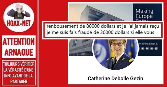 Faux profil Facebook, et faux courriels attribué à la Présidente d'Europol.