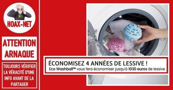 Non, la boule «Eco washball» n'est pas efficace comme elle prétend l'être.