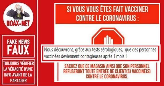 Non, les magasins «MIGROS» ne vont pas interdire l'entrée des personnes vaccinées contre le Covid-19.