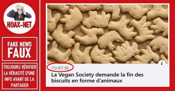 Non, « The Vegan Society » n'a jamais demandé la suppression des biscuits en forme d'animaux.